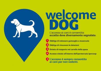 Welcome dog! Accesso ai cani nella galleria del Borgogioioso.