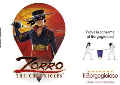 Zorro è qui. Prova la scherma al Borgogioioso!