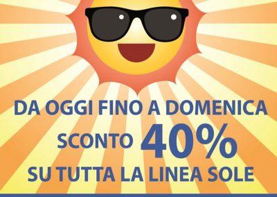 SCONTI SOLARI DA RIGHETTI! da oggi fino a domenica 29 aprile, sconto 40% su tutta la linea sole!