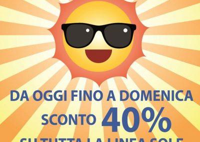 OTTICA RIGHETTI. Fino al 1 luglio SCONTO 40% su LINEA SOLE!