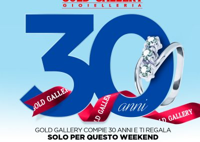 GOLD GALLERY compie 30 anni!