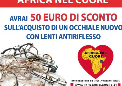 OTTICA RIGHETTI: dona il tuo occhiale usato all'associazione Africa nel cuore, avrai 50 euro di sconto sull'acquisto di un occhiale nuovo con lenti antiriflesso!