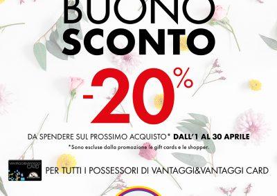 DA SCARPE&SCARPE: BUONO SCONTO -20%!