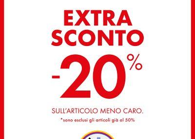 Da SCARPE&SCARPE: acquista due calzature donna in saldo* e hai un extra sconto del 20% sull'articolo meno caro.