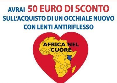 Da OTTICA RIGHETTI: dona il tuo occhiale usato ad AFRICA NEL CUORE avrai 50 euro di sconto sull'acquisto di un occhiale nuovo con lenti antiriflesso.