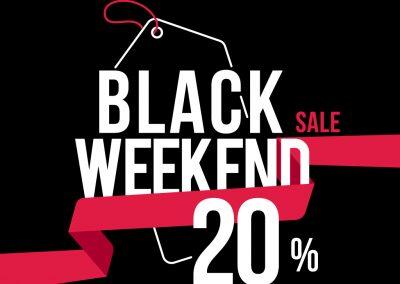 Da CHAMPION: BLACK WEEKEND! 20% di sconto su tutti gli articoli.