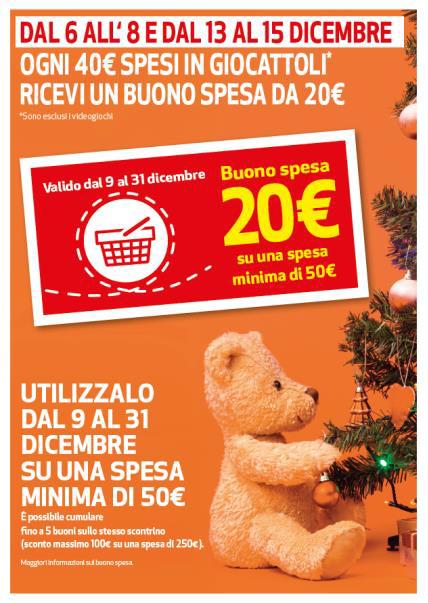 > IPERCOOP: Ogni 40 € spesi in giocattoli* ricevi un buono spesa da 20 €.