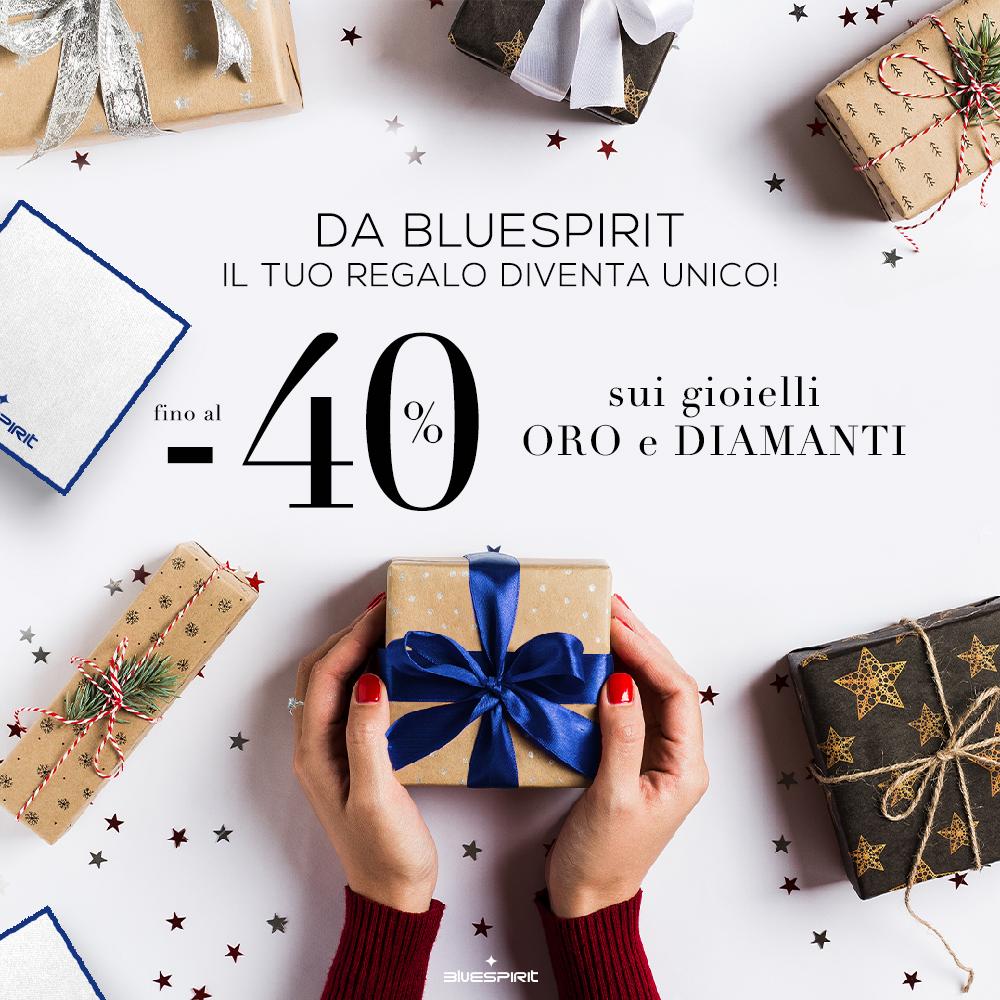 Da Bluespirit il tuo regalo diventa unico! Validità dal 13 fino al 25 Dicembre compreso.