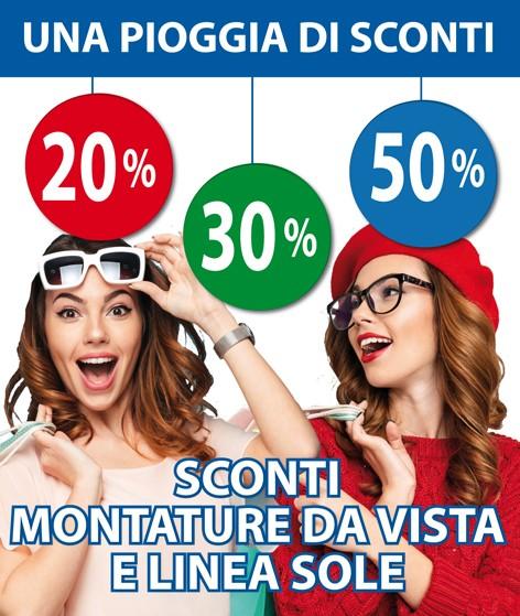 Da OTTICA RIGHETTI:  UNA PIOGGIA DI SCONTI SU MONTATURE DA VISTA E LINEA SOLE!!!