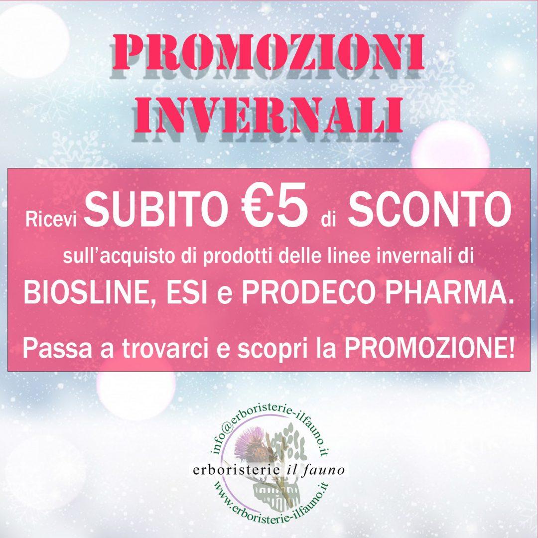 PROMOZIONE PRONTO INVERNO all'Erboristeria Il Fauno!