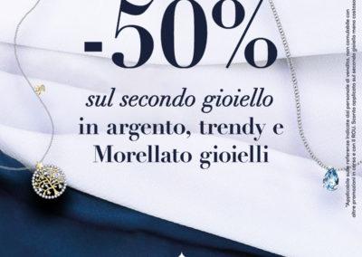 Vieni a scoprire da Bluespirit la promozione -50% sul secondo gioiello meno costoso in argento, trendy e Morellato Gioielli! Ti aspettiamo nel punto vendita Bluespirit!
