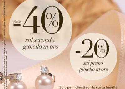 Vieni a trovarci nel nostro punto vendita Bluespirit e scopri la nuova promozione -40% sul secondo gioiello e -20% sul primo gioiello in Perle oro e Perle argento