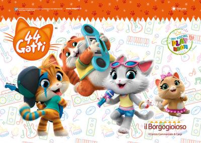 Con il Centro commerciale Il Borgogioioso, entri nella My social Playroom Virtuale dei 44 Gatti!