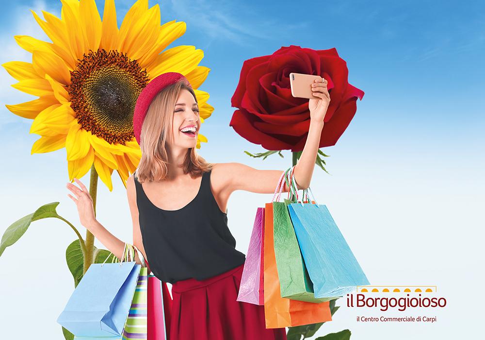 Dal 3 luglio, saldi estivi con i #fiorialborgo, partecipa al contest artistico!